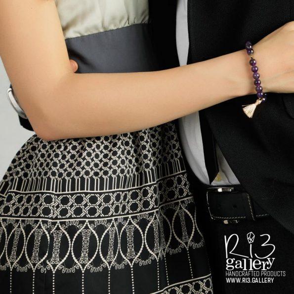 خرید دستبند آماتیست زیبا