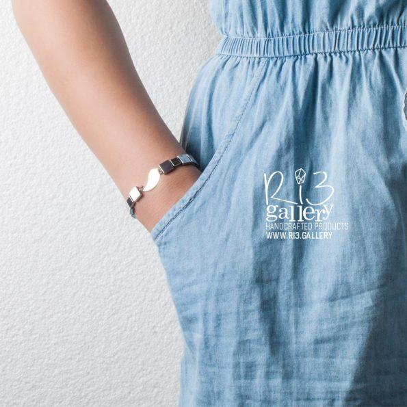 دستبند نقره حدید سیلور زنانه