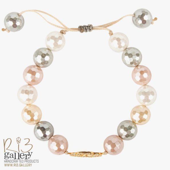 دستبند طلا زنانه صدف طبیعی