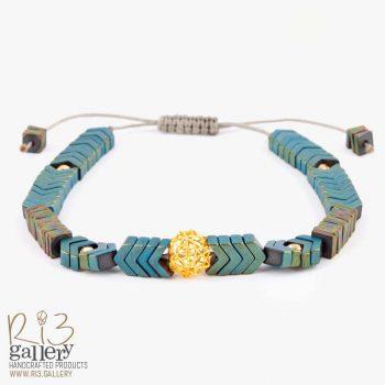 دستبند طلا زنانه فیوژن ستاره ای | ریسه گالری