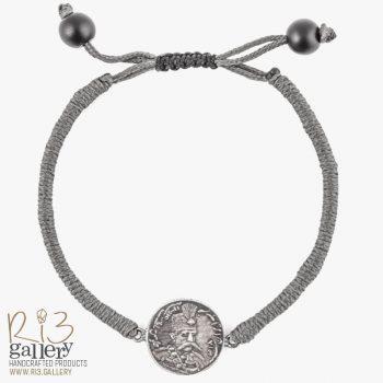 دستبند نقره طرح سکه مظفرالدینشاه قاجار | ریسه گالری