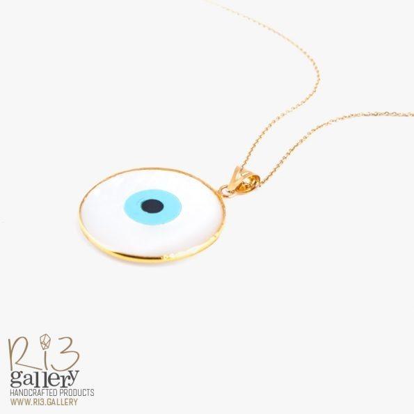 گردنبند صدف چشم نظر | ریسه گالری