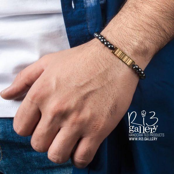 دستبند بارکد مردانه | ریسه گالری