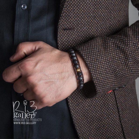 دستبند چرم مردانه | ریسه گالری