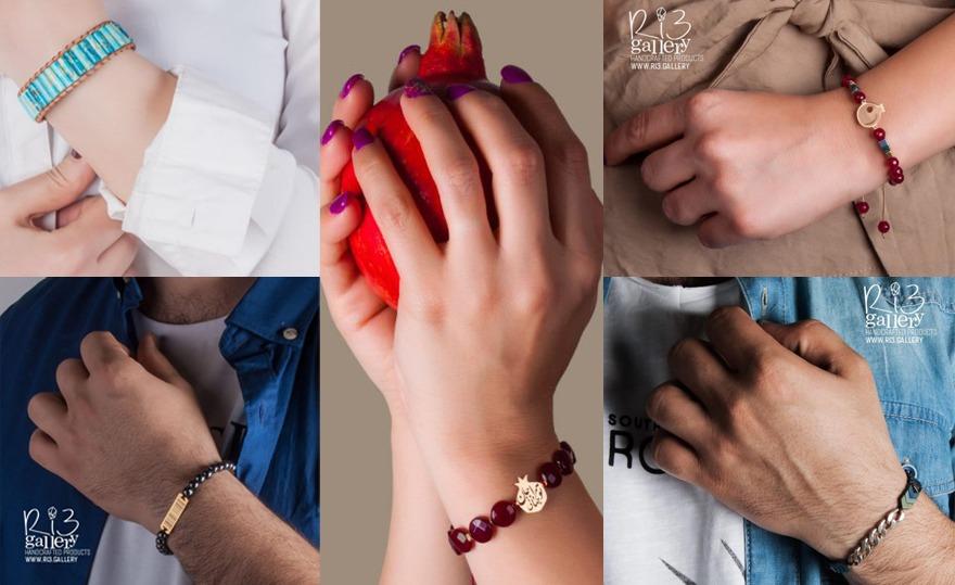 انواع مدل های دستبند مهره ای 2020