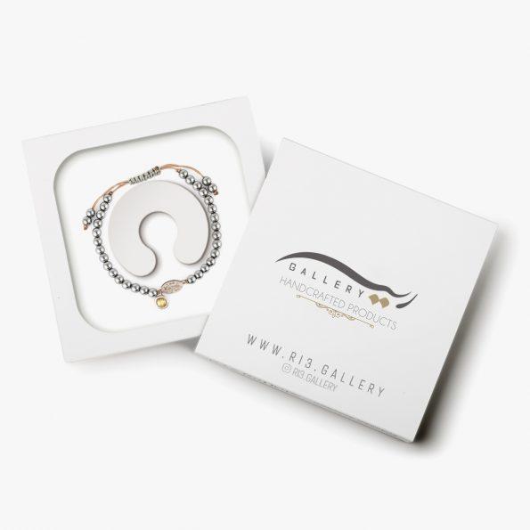 بسته بندی دستبند نقره زنانه هیچ