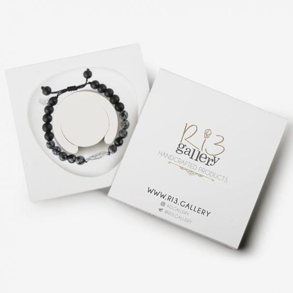 دستبند پلاک الماس | ریسه گالری