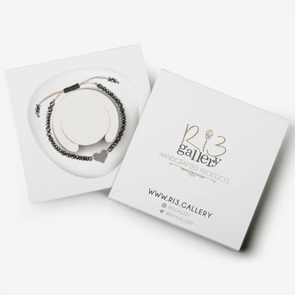 دستبند پلاک قلب | ریسه گالری