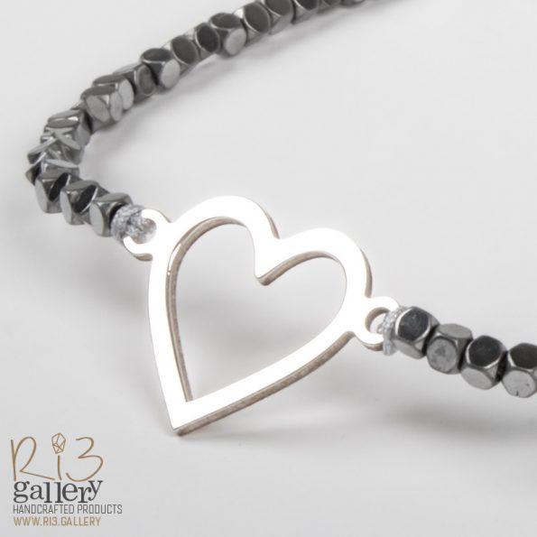 دستبند قلب مینیمال | ریسه گالری