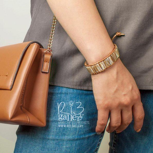 دستبند چرم Shiny | ریسه گالری