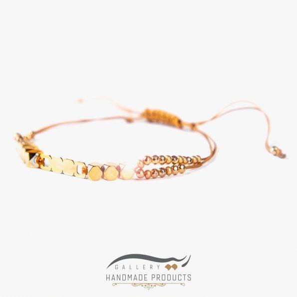 دستبند زنانه طلا طرح سنگ | ریسه گالری