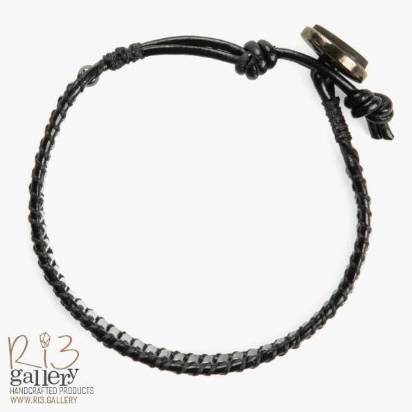 دستبند مردانه حدید لولهای | ریسه گالری