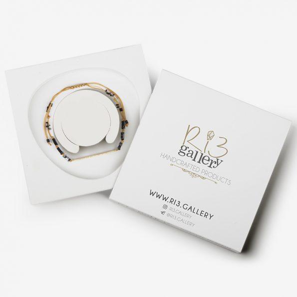 دستبند پلاک طلا together | ریسه گالری