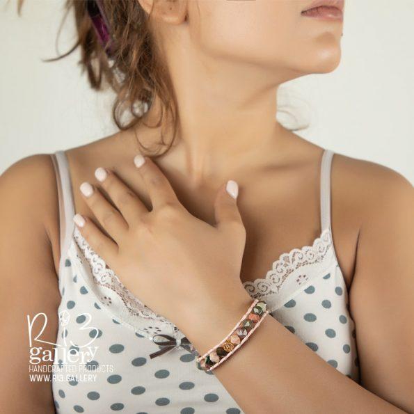 دستبند امپریال جاسپر | ریسه گالری سنگ های متولدین شهریور ماه جاسپر و یشم و سیترین و حدید