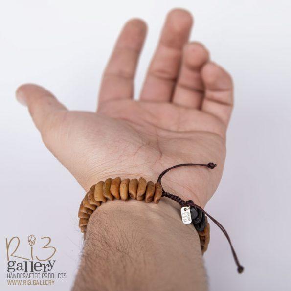 دستبند مردانه هسته خرما | ریسه گالری