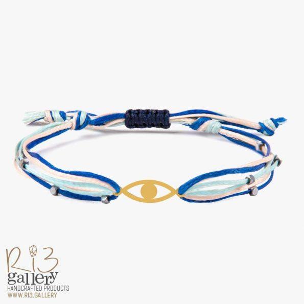 دستبند چشم طلا | ریسه گالری