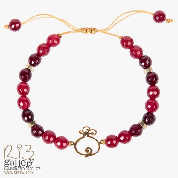 خرید دستبند طلای زنانه انار فُکُلی