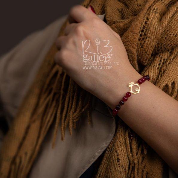 دستبند طلای زنانه انار فُکُلی ریسه گالری