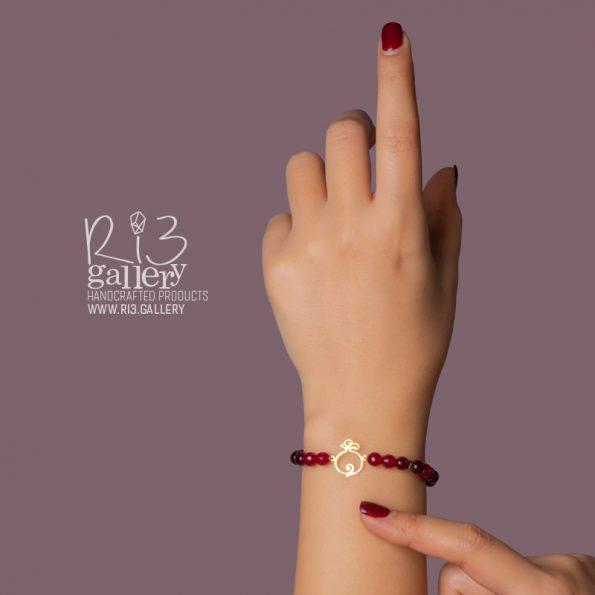 خرید شب یلدا دستبند طلای زنانه انار فُکُلی