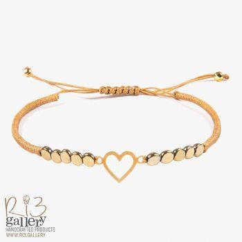 دستبند قلب طلا مینی | ریسه گالری