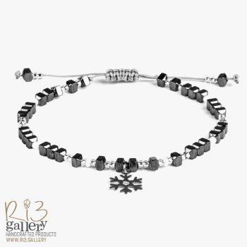 دستبند طلای زنانه برفی | دارای 0.190 گرم طلا