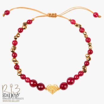 خرید دستبند طلای زنانه فیوژن قلب