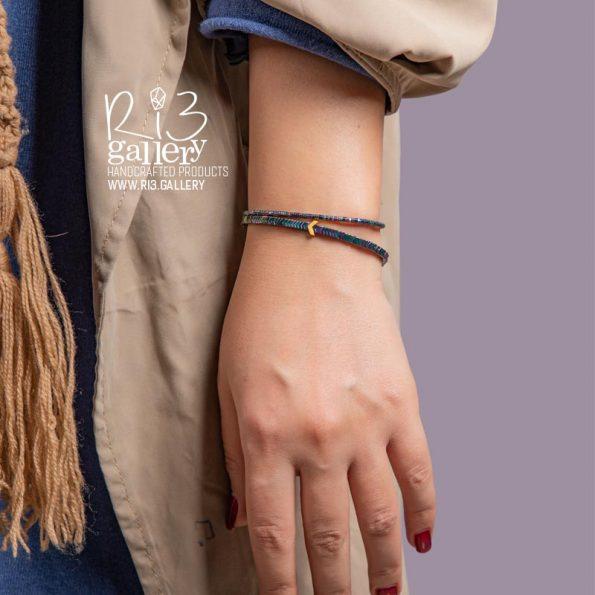 خرید آنلاین دستبند طلای حدید فلشی مولتی کالر