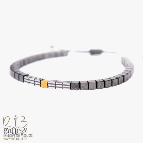 خرید آنلاین از فروشگاه اینترنتی دستبند طلای مردانه کلاسیک