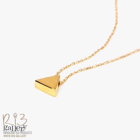 گردنبند طلای زنانه مثلثی ریسه گالری خرید آنلاین