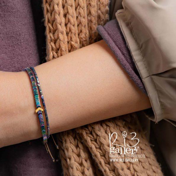 خرید آنلاین دستبند طلای حدید فلشی مولتی کالر ریسه گالری