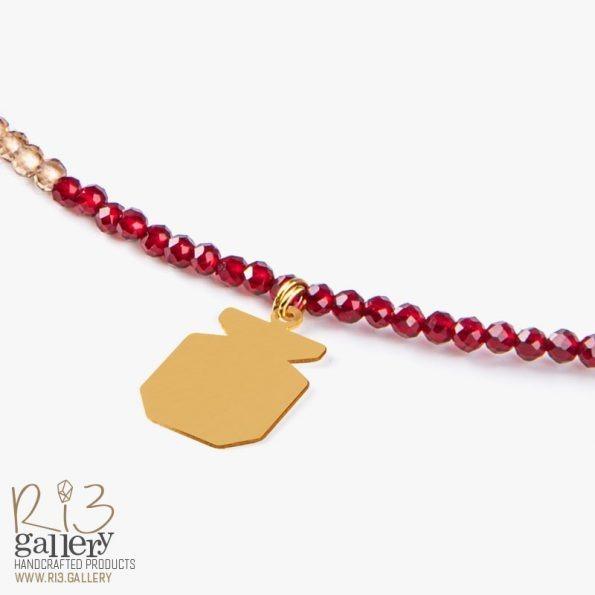 گردنبند طلای زنانه انار خرید آنلاین گردنبند