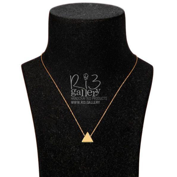گردنبند طلای زنانه مثلثی ریسه گالری فروشگاه اینترنتی زیورآلات