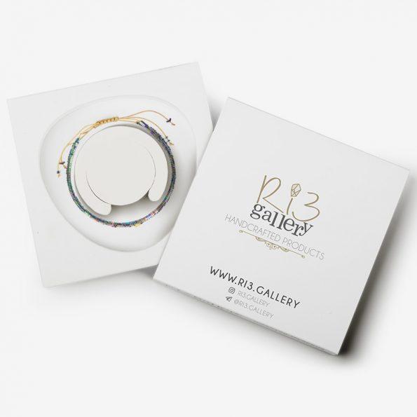 بسته بندی دستبند طلای حدید فلشی مولتی کالر