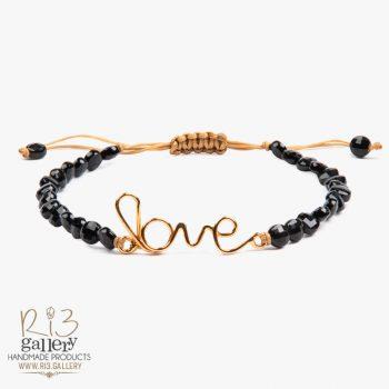 دستبند طلا زنانه Love