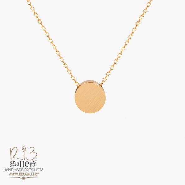 گردنبند طلا زنانه دایرهای