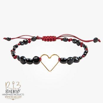 دستبند طلا زنانه طرح قلب