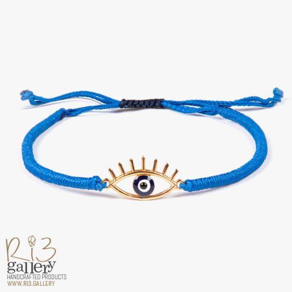 دستبند زنانه طلا با پلاک چشم | دارای 1 گرم طلا