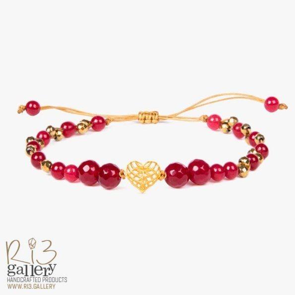دستبند طلای زنانه فیوژن قلب دارای 0.290 گرم طلای 18 عیار