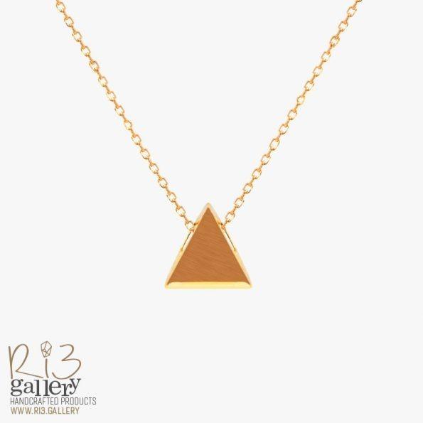 گردنبند طلای زنانه مثلثی
