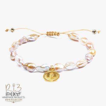 دستبند زنانه طلا طرح سکه | دارای 0.500 گرم طلا