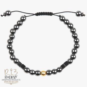 خرید آنلاین دستبند گوی طلا مردانه و حدید