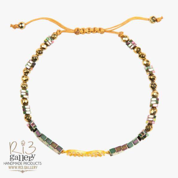 دستبند طلا زنانه بی نهایت ریسه گالری
