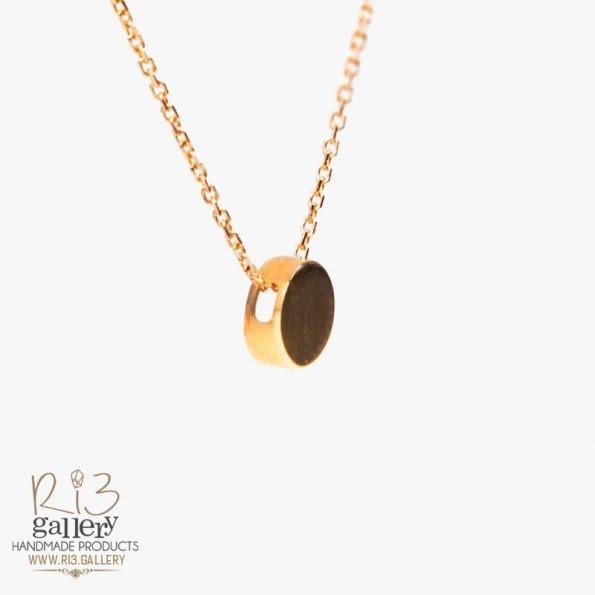 خرید گردنبند طلا زنانه دایرهای