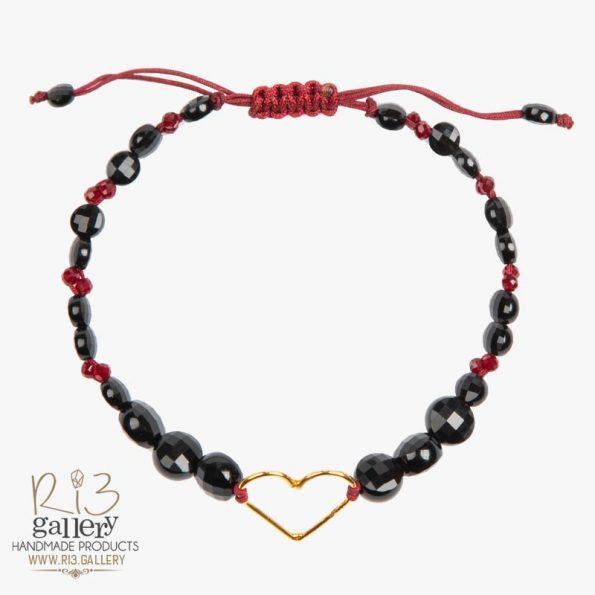 خرید آنلاین دستبند طلا زنانه طرح قلب
