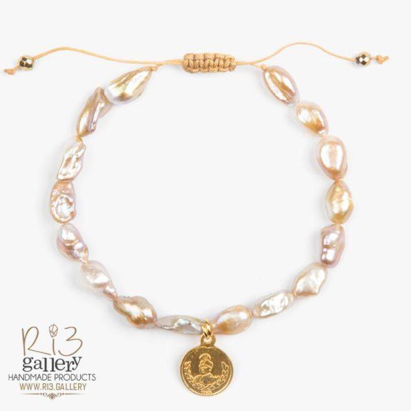 خرید آنلاین دستبند زنانه طلا طرح سکه