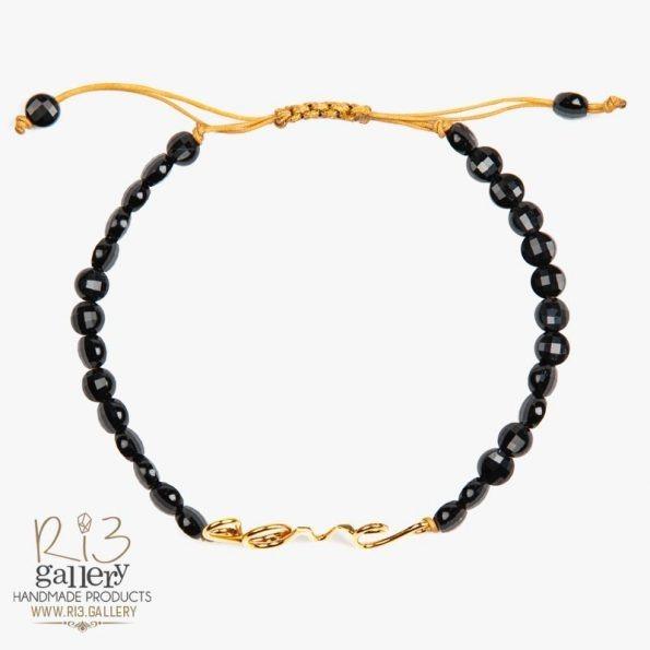 خرید دستبند طلا زنانه Love
