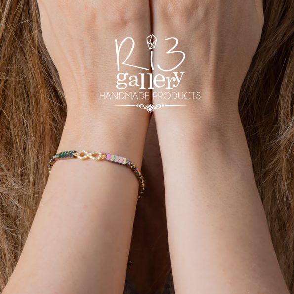 خرید آنلاین دستبند طلا زنانه بی نهایت