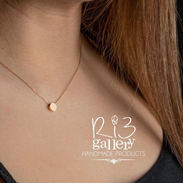 گردنبند طلا زنانه دایرهای ریسه گالری