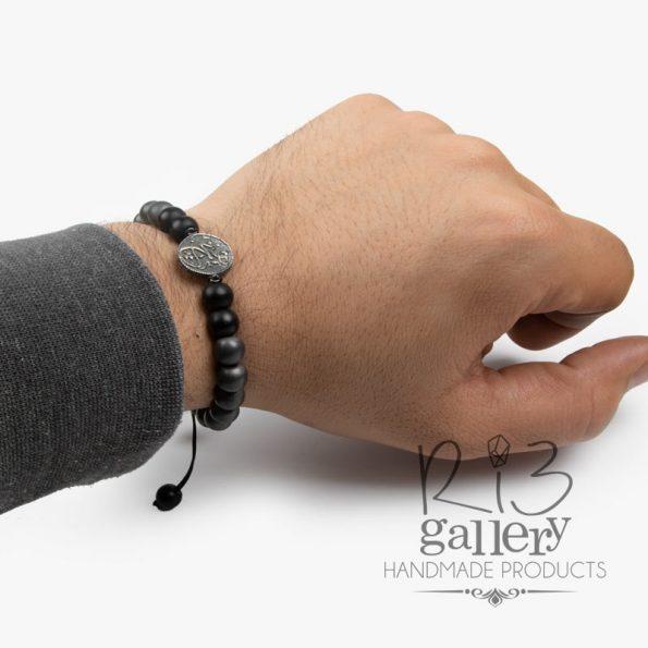 دستبند نقره مردانه هیچ فروشگاه اینترنتی ریسه گالری