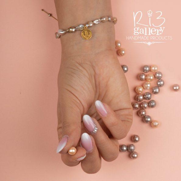دستبند زنانه طلا طرح سکه ریسه گالری